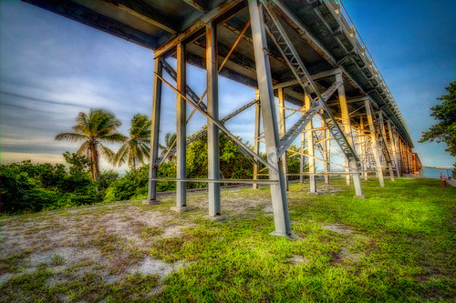 ocean park bridge metal sunrise honda palms keys state florida coconut bahia hdr