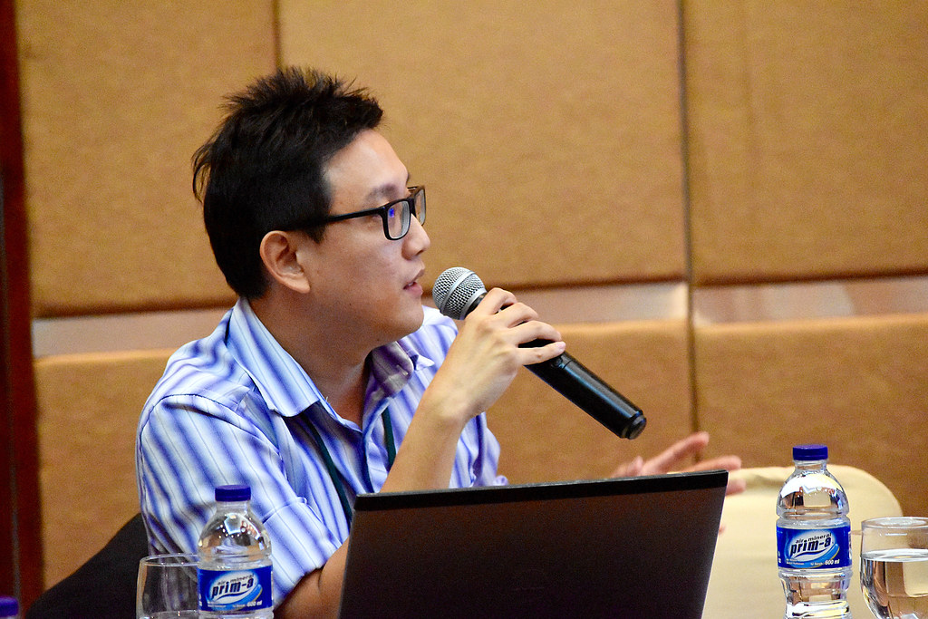 Representatives of civil society organisations from Southeast Asia discuss the new ASEAN Work Plan for Forest Law Enforcement and Governance during a CSO meeting