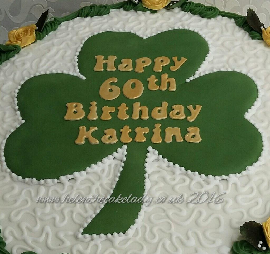 Terrific Shamrock Birthday Cake By Helen The Cake Lady Helen Flickr Birthday Cards Printable Trancafe Filternl