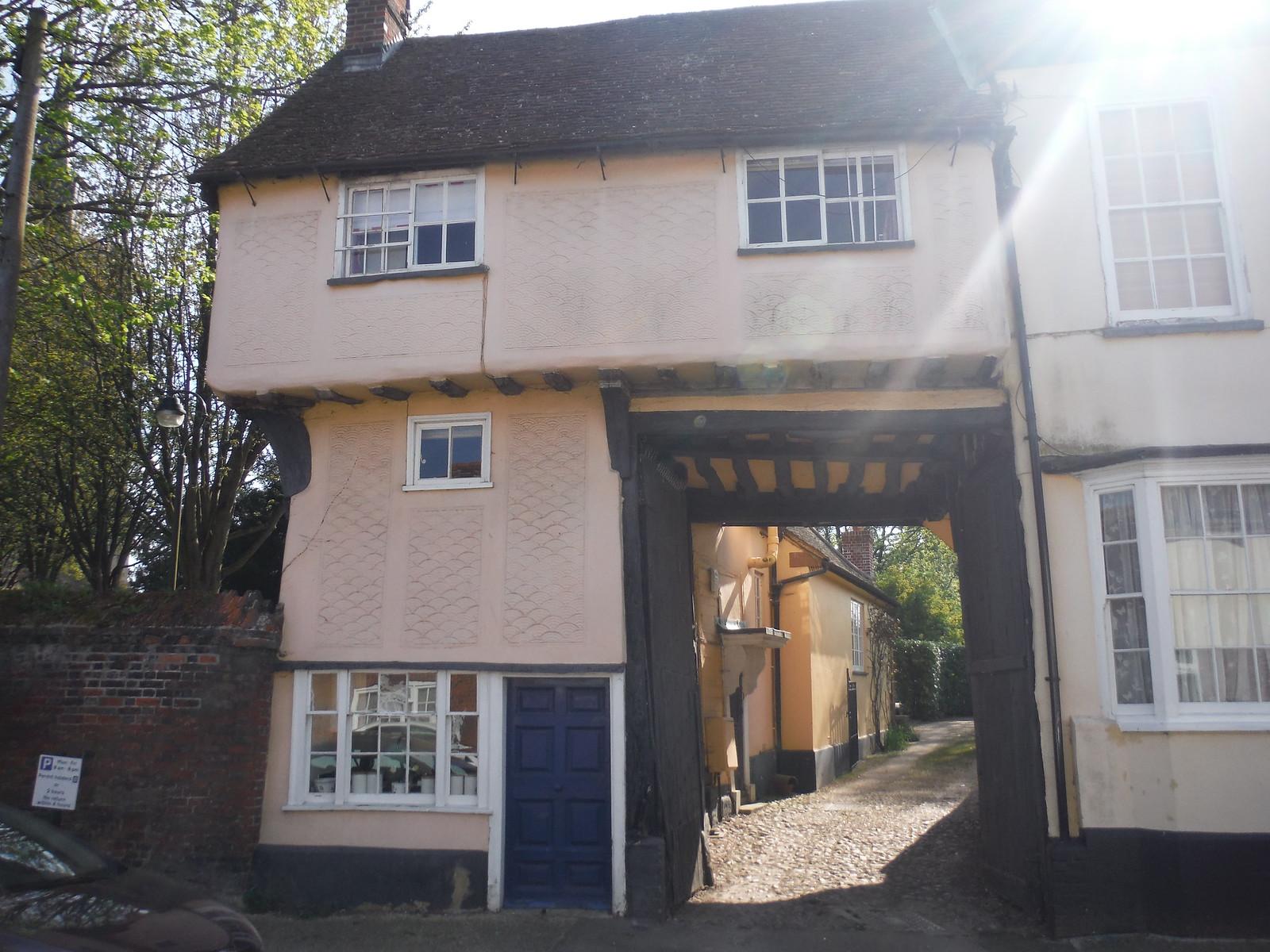 Pargetted House in Baldock SWC Walk 91 - Baldock Circular