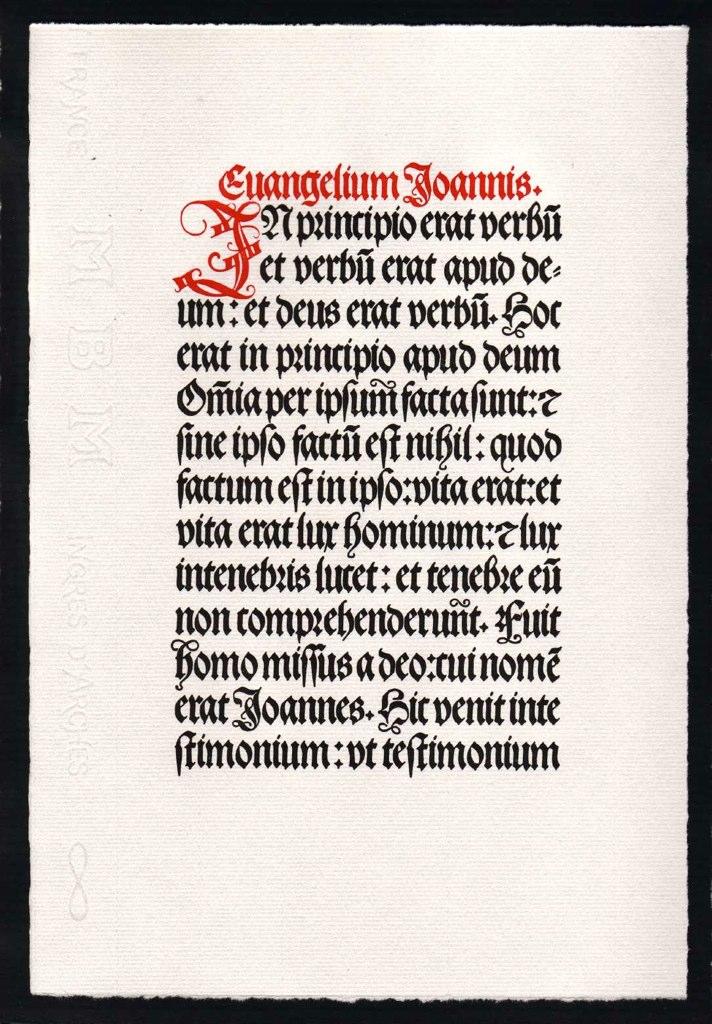 Johannes-Prolog in Maximilian Fraktur | Hans-Ulrich Frey