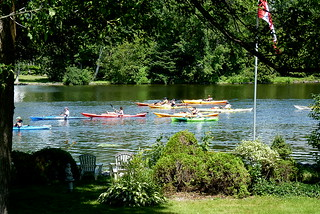 Kayaks on the Rideau River