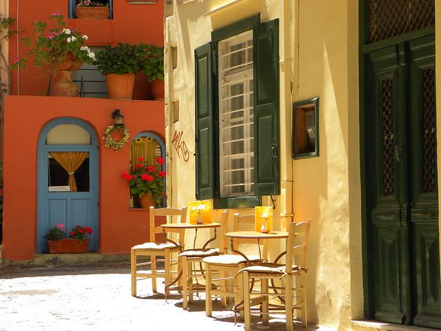 Ruelle colorée, La Canée, Crète, Grèce.