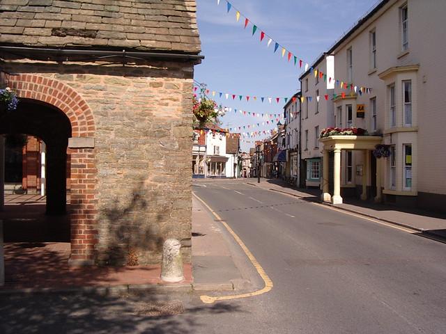 Kington, centre for walkers Offa's Dyke Path.