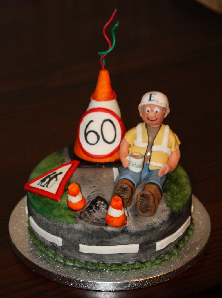 Superb 60Th Birthday Cake Andreadm66 Flickr Funny Birthday Cards Online Elaedamsfinfo