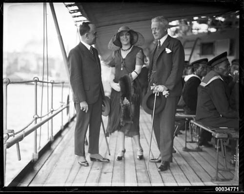 Czech Consul-General Dr Rudolf Kuraz and Hannah and Charles Lloyd Jones on board HNLMS JAVA   by Australian National Maritime Museum on The Commons