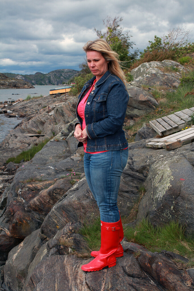 Susanne In Red Hunter Wellies Patrik Flickr