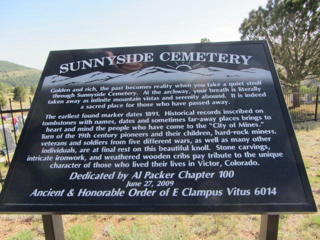 Sunnyside Cemetery Sign