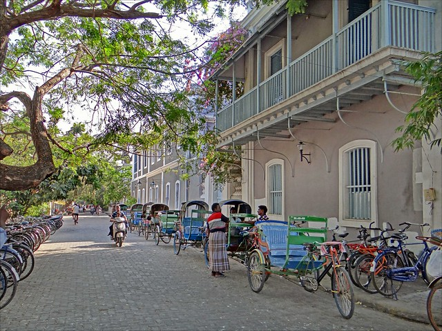 La rue François Martin (Pondichéry, Inde)