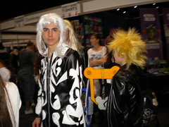 Sora( I think) With someone else from organisation XIII from Kingdom Hearts 2