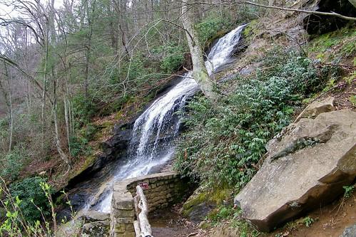 blue waterfall north ridge parkway cascades carolina jeffress