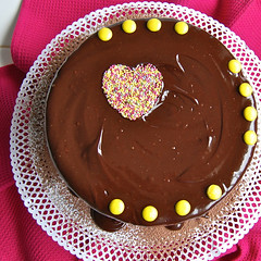 Yogurt cake with chocolate and hazelnuts