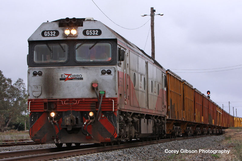 G532 with the Mineral Sands train by Corey Gibson
