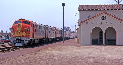 california santafe trains amtrak monrovia thechief seconddistrict