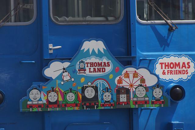 Thomas train at Kawaguchiko Station 富士急行5000系