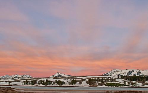 sunset national yellowstonenationalpark yellowstone wyoming swanflats