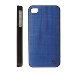 men & wood real wood case for iphone_ミッドナイトブルー