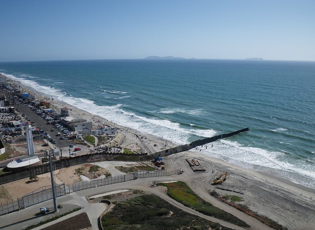 United States / Mexico Border at the Pacific Ocean