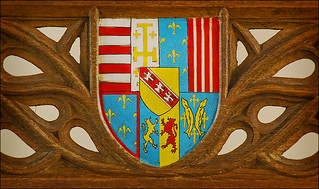 Coat of Arms from the Queen's Chair in the Great Hall, Stirling Castle | by dun_deagh