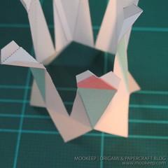 สอนทำโมเดลกระดาษเป้นรูปแจกันโบราณ (Papercraft Model Flower Vase) 009