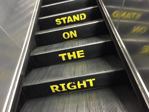 Stand on the right   by Matt From London