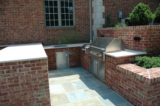 brick outdoor kitchen design | Scenic landscaping NJ helps t ...