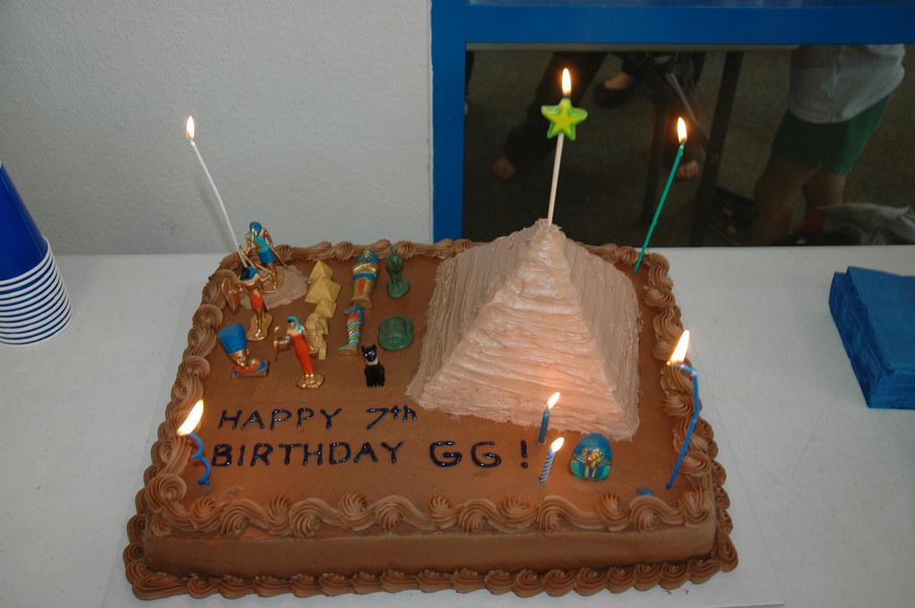 Swell Ancient Egyptian Themed Birthday Cake Thomas Green Flickr Funny Birthday Cards Online Necthendildamsfinfo