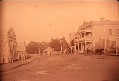 Cowan Street view towards where McKinlay Monument now stands. The Church was built in 1861.
