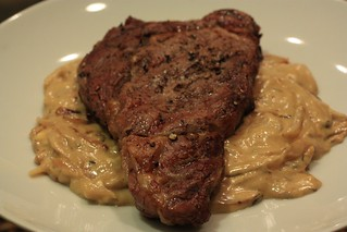 Grilled Steak w:Onion Blue Cheese Sauce | by Shaw Girl