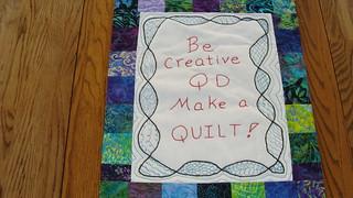 Be Creative QD progress