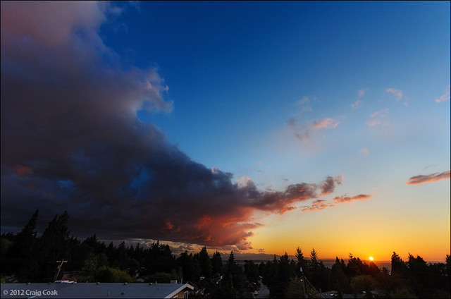 Another gorgeous sunset from the deck (5/9/12)