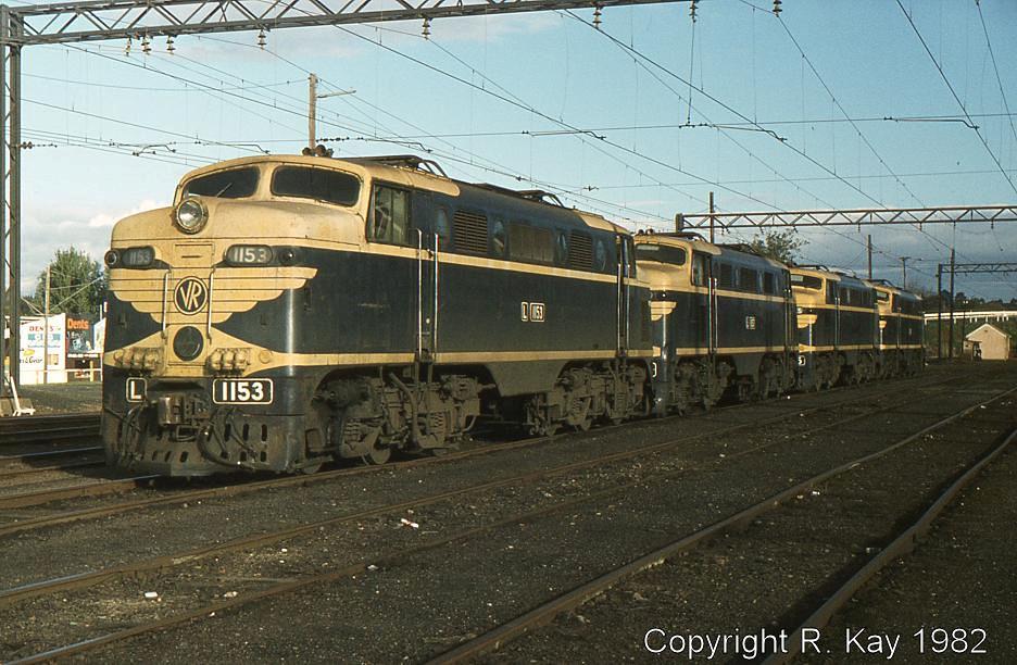 L-1153, L-1157, L-1165 and L-1170 in Warraul Yard by Robert Kay