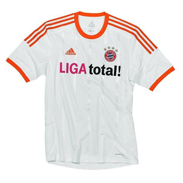 check out 3eb1e f341e Men's XL Adidas 2012/13 FC Bayern Munich White Away Soccer ...
