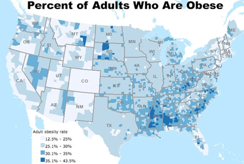 Obesity Map in the US