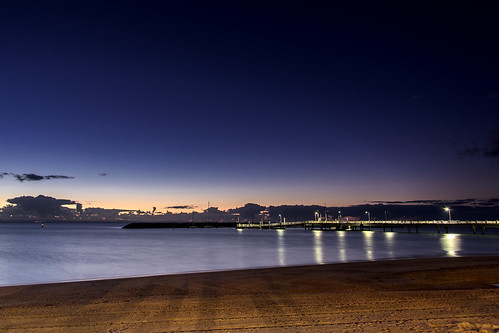 sea sky beach clouds sunrise pier redcliffe sunsetsandsunrisesgold slowshutteronwater