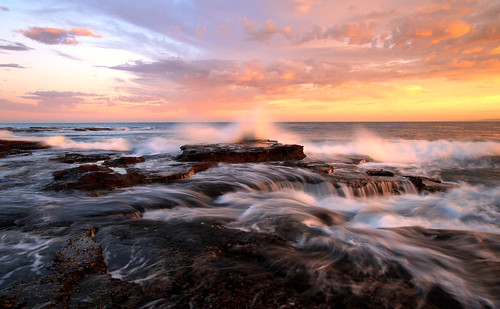 ocean longexposure seascape sunrise waves wideangle westernaustralia sigma1020mm oceanrocks kalbarriwa canon7d midwestwa