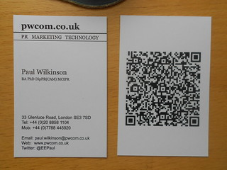 Business card with QR code | by EEPaul
