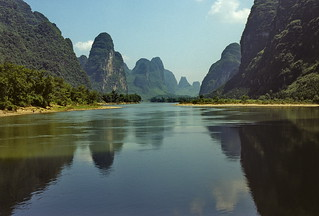 Karst topography along the Lijiang River, Guanxi, China (2)   by Yvon from Ottawa