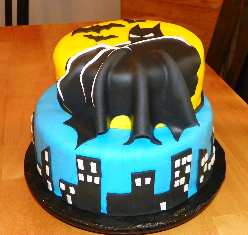 Miraculous Batman Birthday Cake Imake Sweets Flickr Personalised Birthday Cards Veneteletsinfo