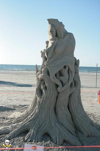 sculpture castle beach sand texas contest master sculptor portaransas texassandfest