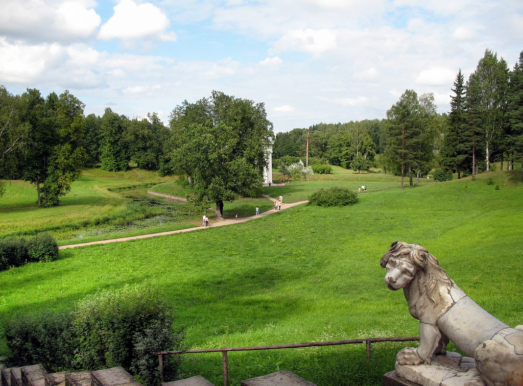 Картина парк в павловске шишкин
