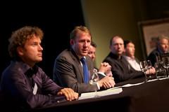 Kees Verhoeven (D66) bij het Nationaal Privacy Debat