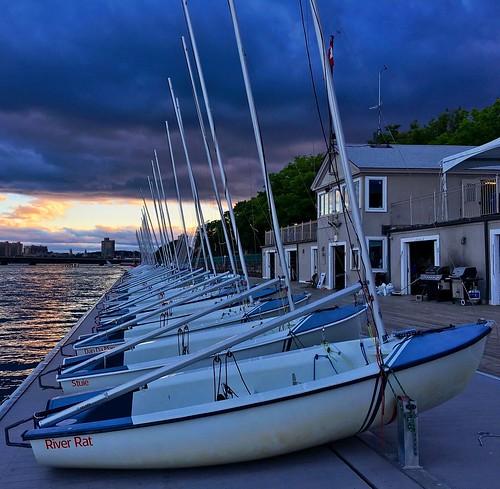 cambridge sunset sky weather boston clouds dark boats vanishingpoint dock sailing massachusetts charlesriver perspective newengland stormy sailboats darkclouds pw
