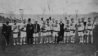 The Canadian Olympic lacrosse team, London, England, 1908 / L'équipe olympique canadienne de crosse, Londres, Angleterre, 1908