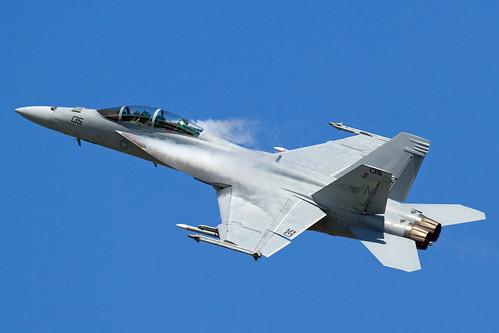 US Navy Boeing F/A-18F Super Hornet   by RS Deakin
