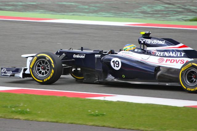 Bruno Senna's Williams at Silverstone