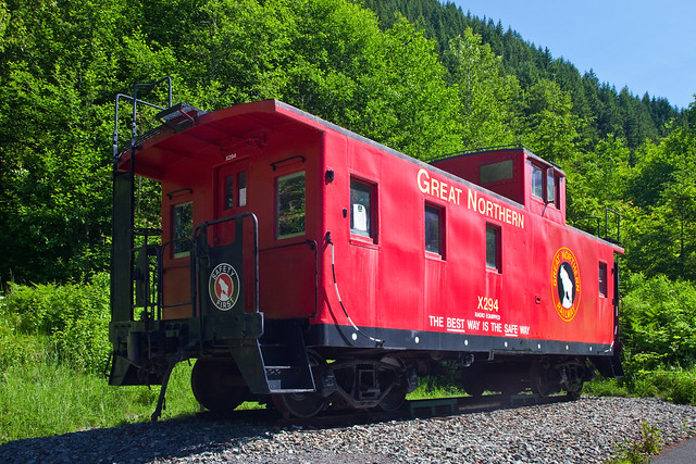 Great Northern Railway Caboose at Iron Goat Trail Interpretive Site