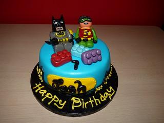 Strange Lego Batman And Robin Cake Kookies And Cakes Flickr Personalised Birthday Cards Vishlily Jamesorg
