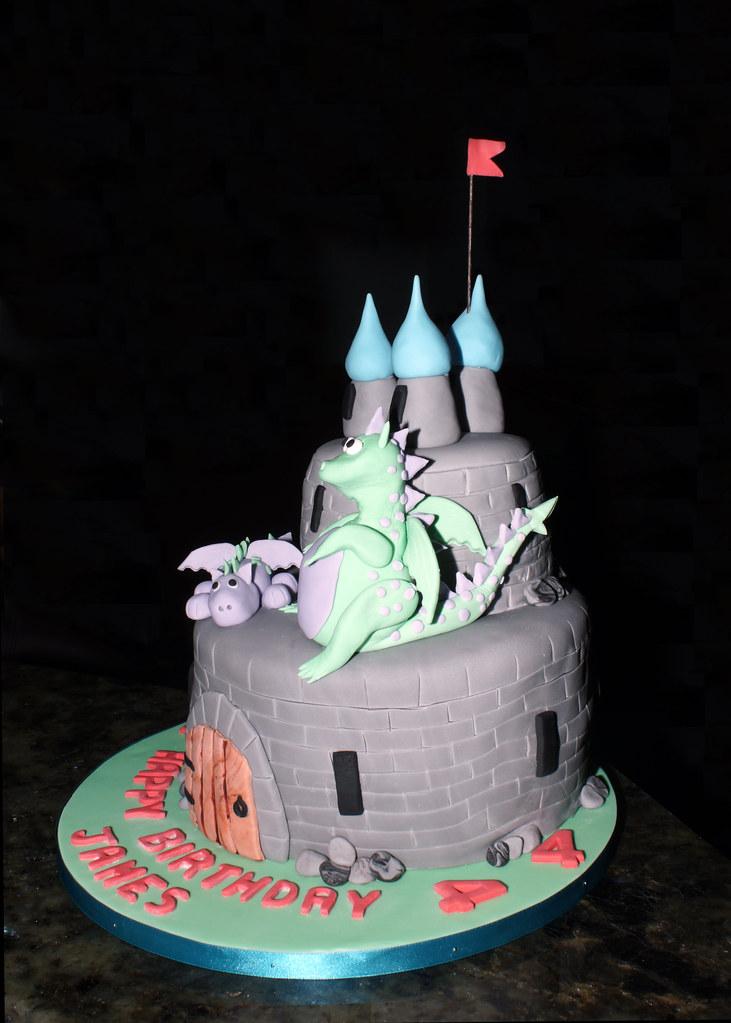 Surprising Dragon Birthday Cake Dragon Birthday Cake Made By Janet Fo Flickr Personalised Birthday Cards Veneteletsinfo