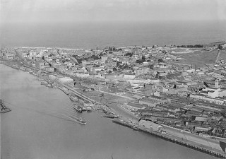 Aerial view of Lee Wharf, Newcastle | by NSW State Archives and Records
